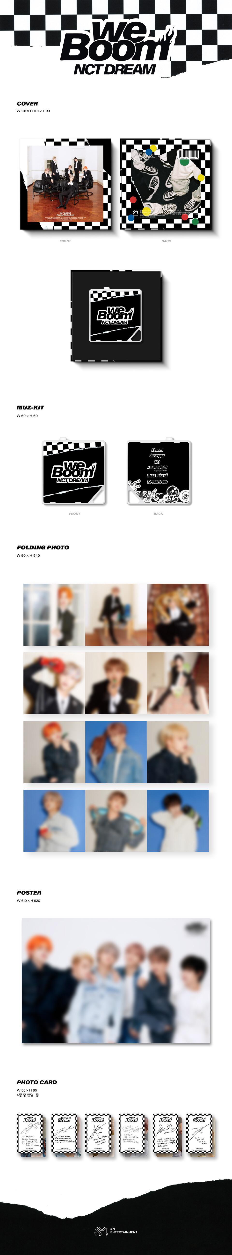 We Boom Kihno Kit Folded Poster KIHNO Album NCT DREAM 3rd Mini Kihno Album