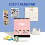 BTS OFFICIAL CHARACTER 2020 CALENDAR