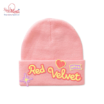 RED VELVET DAY 2 BEANIE WITH PATCH WITH PHOTO TAG