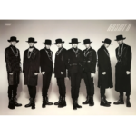 ATEEZ 4TH MINI ALBUM TREASURE EPILOGUE ACTION TO ANSWER OFFICIAL DOUBLE SIDED POSTER (BLUE VERSION)