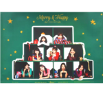 TWICE MERRY&HAPPY 1ST ALBUM REPACKAGE OFFICIAL POSTER (MERRY VER)
