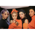 MAMAMOO 2ND ALBUM REALITY IN BLACK OFFICIAL POSTER (VER 1)