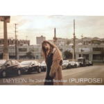 TAEYEON PURPOSE THE 2ND REPACKAGE ALBUM OFFICIAL POSTER (PURPLE VER)
