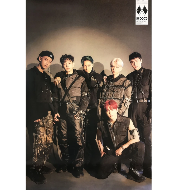 EXO OBSESSION 6TH ALBUM OFFICIAL POSTER (EXO GROUP VER) – Kpop USA