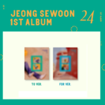 JEONG SEWOON  24  1ST ALBUM 2 ALBUMS SET