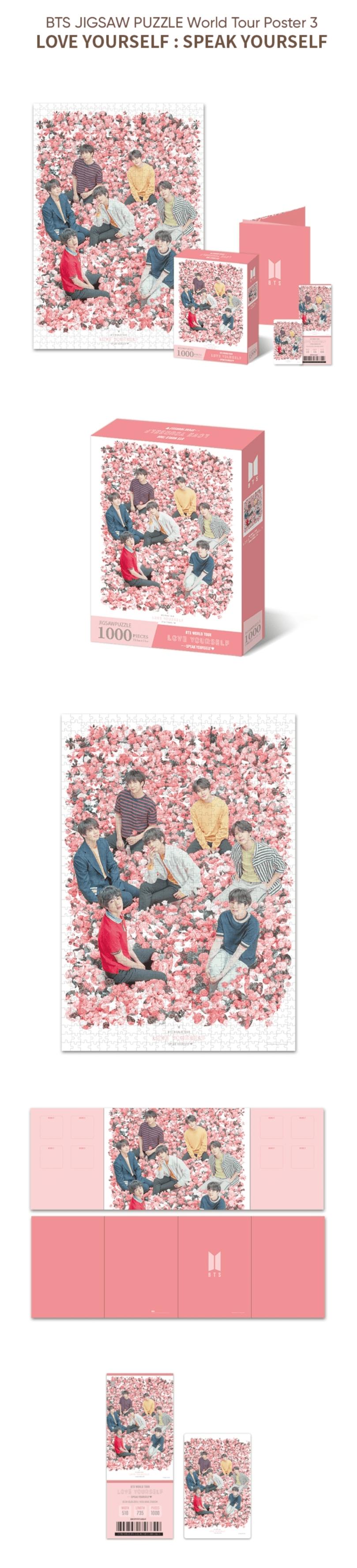 Bts World Tour Poster Jigsaw Puzzle Set Love Yourself Speak Yourself Tour Kpop Usa