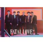 MONSTA X FATAL LOVE 3RD ALBUM OFFICIAL POSTER (VER 3)