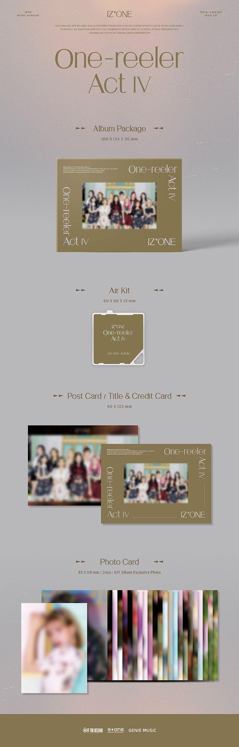 Izone One Reeler Act 4th Mini Album Air Kit Kpop Usa